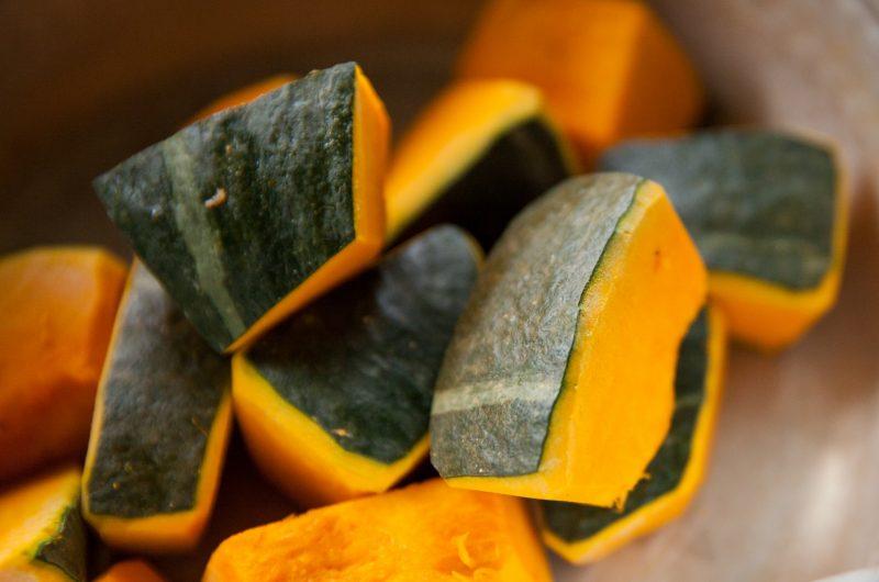 かぼちゃと厚揚げのピリ辛煮のレシピ【ノンストップ】